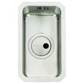Abode Matrix R25 0.5 Bowl Undermount Kitchen Sink 200mm L x 340mm W - Stainless Steel