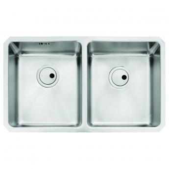 Abode Matrix R25 2.0 Bowl Undermount Kitchen Sink 760mm L x 450mm W - Stainless Steel