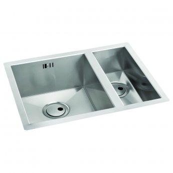 Abode Matrix R0 1.5 Left Handed Bowl Undermount Kitchen Sink 596mm L x 460mm W - Stainless Steel