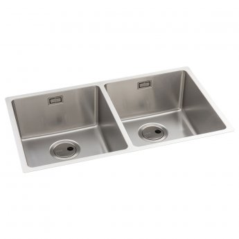 Abode Matrix R15 2.0 Bowl Undermount Kitchen Sink 740mm L x 440mm W - Stainless Steel