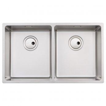 Abode Matrix R15 2.0 Bowl Undermount Kitchen Sink 740mm L x 440mm W - Stainless Steel