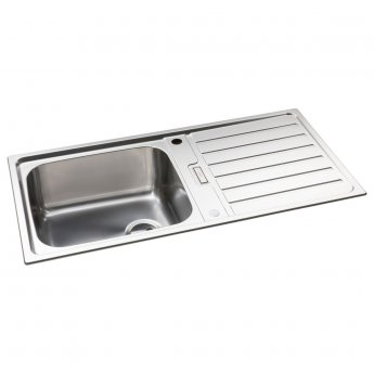 Abode Neron 1.0 Bowl Inset Kitchen Sink 1000mm L x 500mm W - Stainless Steel
