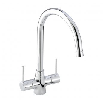 Abode Nexa Monobloc Dual Lever Kitchen Sink Mixer Tap - Chrome