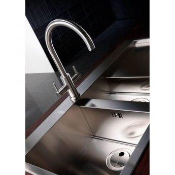Abode Novar Monobloc Kitchen Sink Mixer Tap - Stainless Steel