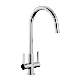 Abode Pico Monobloc Dual Lever Kitchen Sink Mixer Tap - Chrome