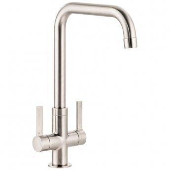 Abode Pico Quad Monobloc Kitchen Sink Mixer Tap - Brushed Nickel