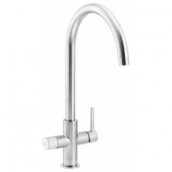 Abode Puria Aquifier Kitchen Sink Mixer Tap - Brushed Nickel