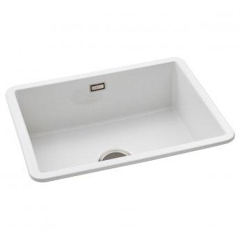 Abode Sandon 1.0 Bowl Ceramic Kitchen Sink 595mm L x 460mm W - White
