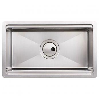 Abode Studio 1.0 Bowl Undermount Kitchen Sink With Waste Kit 500mm L x 300mm W - Stainless Steel