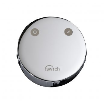 Abode Swich Round Handle Diverter Valve with Classic Filter - Chrome