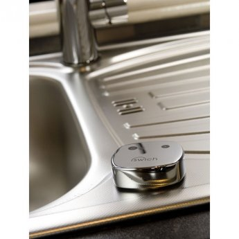 Abode Swich Square Handle Diverter Valve with High Resin Filter - Chrome