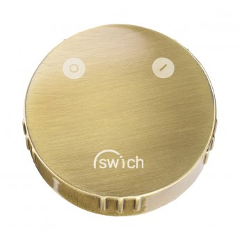 Abode Swich Round Handle Diverter Valve with High Resin Filter - Brushed Brass