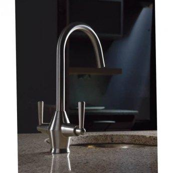 Abode Taura Monobloc Kitchen Sink Mixer Tap - Stainless Steel
