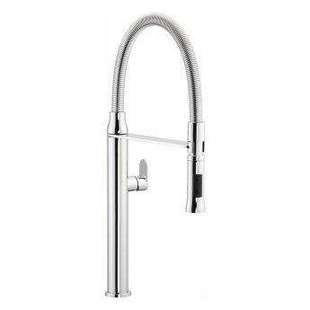 Abode Titane Professional Pull Out Kitchen Sink Mixer Tap - Chrome