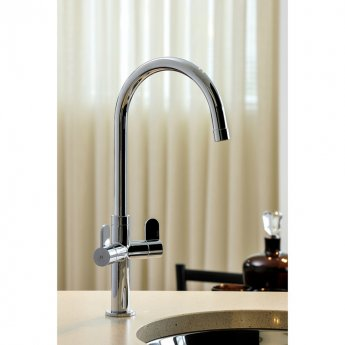 Abode Verla Monobloc Dual Lever Kitchen Sink Mixer Tap - Chrome