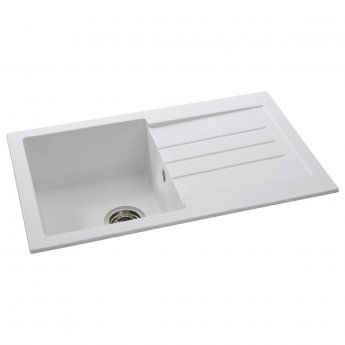 Abode Xcite 1.0 Bowl Granite Inset Kitchen Sink 780mm L x 500mm W - Frost White