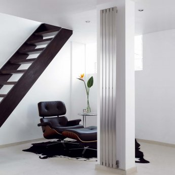 Aeon Lunar Designer Vertical Radiator 1500mm H x 340mm W - Brushed Matt