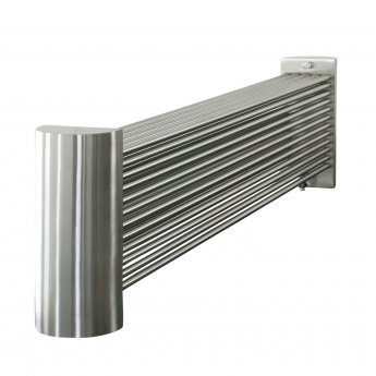 Aeon Ottoman Designer Horizontal Radiator 500mm H x 970mm W 49 Bars - Brushed Matt