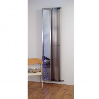 Aeon Venetian Designer Vertical Radiator 2000mm H x 255mm W - Brushed Matt