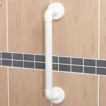 AKW 1900 Series Straight Grab Rail, 610mm Length, White
