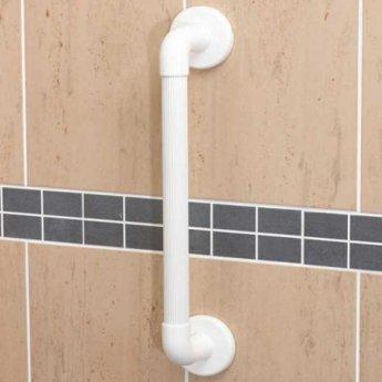 AKW 1900 Series Straight Grab Rail, 914mm Length, White