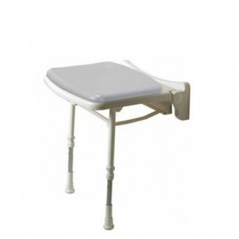 AKW 2000 Series Standard Fold Up Shower Seat - Grey Padded
