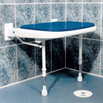 AKW 4000 Series Extra Wide Shower Seat Blue