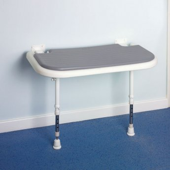 AKW 4000 Series Larger Extra Wide Shower Seat - Grey Padded