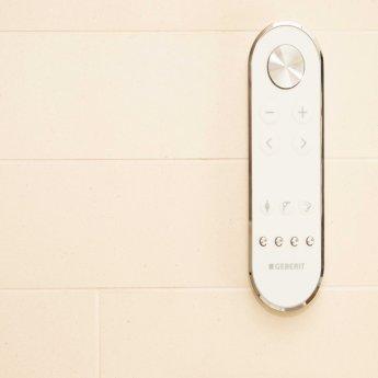 Geberit AquaClean Mera Care Floor Standing Close Coupled WC Toilet - Alpine White