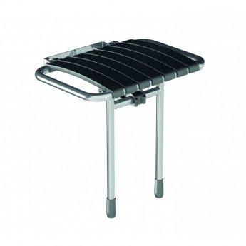 AKW Bama Slatted Compact Fold Up Seat - Grey