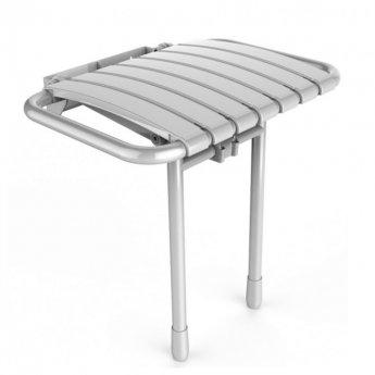 AKW Bama Slatted Compact Fold Up Seat - White