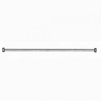 AKW White Bendy Shower Curtain Rail 3000mm