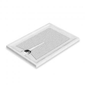 AKW Braddan Rectangular Shower Tray with Gravity Waste 1200mm x 820mm