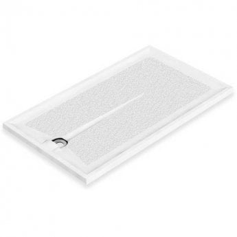 AKW Braddan Rectangular Shower Tray with Gravity Waste 1300mm x 700mm