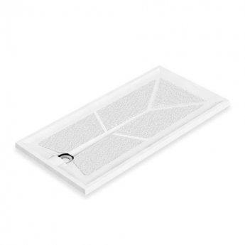 AKW Braddan Rectangular Shower Tray with Gravity Waste 1420mm x 700mm