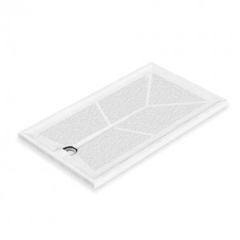 AKW Braddan Rectangular Shower Tray with Gravity Waste 1420mm x 820mm - Non-Handed