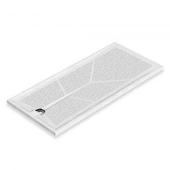 AKW Braddan Rectangular Shower Tray with Gravity Waste 1800mm x 820mm