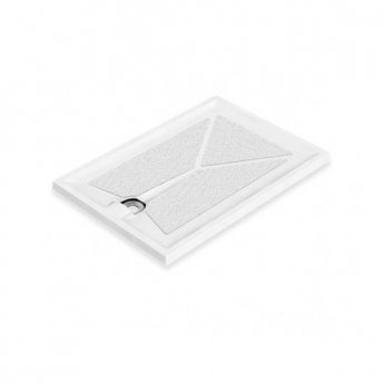 AKW Braddan Rectangular Shower Tray with Upward Pumped Waste 1000mm x 700mm - Non-Handed