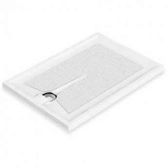 AKW Braddan Rectangular Shower Tray with Upward Pumped Waste 1200mm x 700mm - Non-Handed
