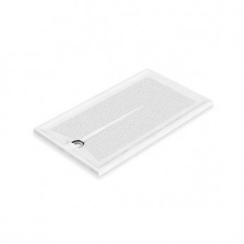 AKW Braddan Rectangular Shower Tray with Upward Pumped Waste 1300mm x 700mm - Non-Handed