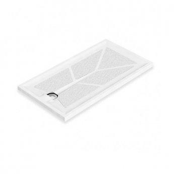 AKW Braddan Rectangular Shower Tray with Upward Pumped Waste 1420mm x 700mm - Non-Handed