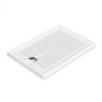AKW Braddan Rectangular Shower Tray with Upward Pumped Waste 1200mm x 820mm - Non-Handed