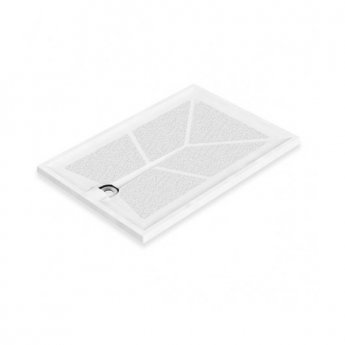 AKW Braddan Rectangular Shower Tray with Upward Pumped Waste 1300mm x 820mm - Non-Handed