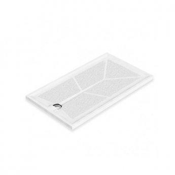 AKW Braddan Rectangular Shower Tray with Upward Pumped Waste 1420mm x 820mm - Non-Handed