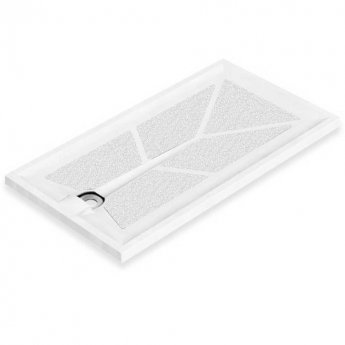 AKW Braddan Rectangular Shower Tray with Upward Pumped Waste 1200mm x 650mm - Non-Handed