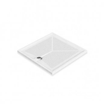 AKW Braddan Square Shower Tray with Upward Pumped Waste 820mm x 820mm - Non-Handed