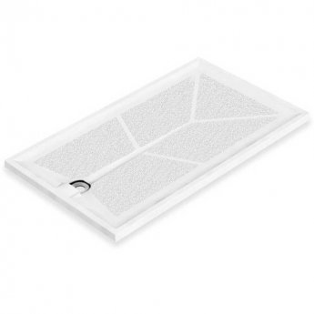 AKW Braddan Rectangular Shower Tray with Gravity Waste 1300mm x 820mm