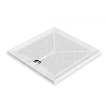 AKW Braddan Square Shower Tray with Gravity Waste 900mm x 900mm