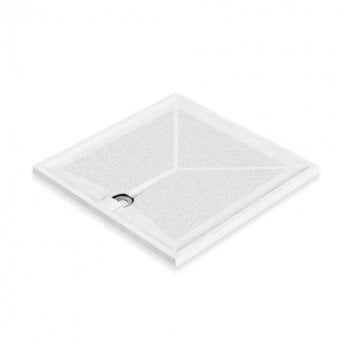 AKW Braddan Square Shower Tray with Gravity Waste 1000mm x 1000mm