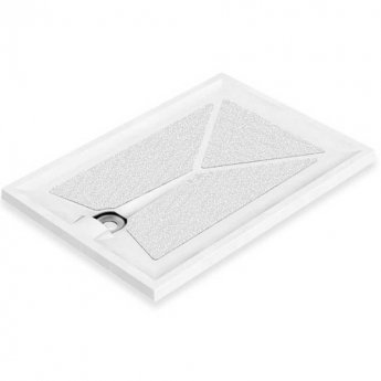 AKW Braddan Rectangular Shower Tray with Upward Pumped Waste 1000mm x 800mm - Non-Handed